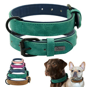 Velvet Leather Dog Collar Pet Puppy Walking Collar for Small Large Dogs Labrador