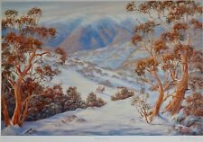 Falls Creek by John Bradley. Australian Ski Country, Large L.E. 500/500. Signed.