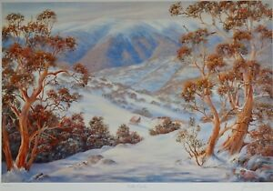 Falls Creek by John Bradley. Australian Ski Country, Large L.E.493/500. Signed.