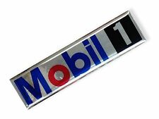 "4.0""x1PC. MOBIL 1 AUTO LUBE OIL RESIN ON CHROME STICKER DECAL RACING MOTOR BIKE"