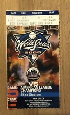 2000 World Series Ticket Game 5 NY Yankees/Mets Subway Series Clincher!