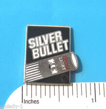 SILVER BULLET Coors Light - hat pin , lapel pin , tie tac , hatpin GIFT BOXED cb