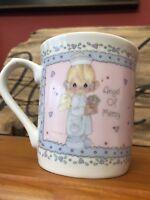 Vintage Precious Moments Angel of Mercy Nurse Mug Pink 1991 Enesco 10 oz Cup