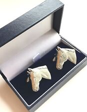 Personalised Horse Head Hand Made Pewter Cufflinks (N377) E09 Boxed