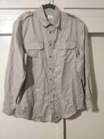 Men's Tilley Bush Shirt Size Large L Khaki