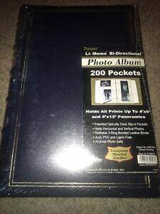 "🔥PIONEER Le memo Photo AlBum 4""x6"" Bi-Directional Pockets 200 Pictures Black"