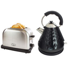 BLACK DIAMOND PYRAMID FAST BOIL KETTLE & EXTRA WIDE 2 SLICE BAGEL TOASTER SET