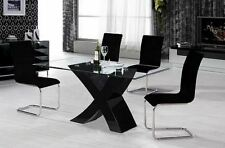 Grade B High Gloss Black White Dining Table 120 160cm Small Large