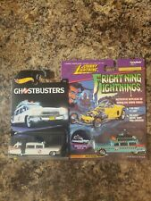 Johnny Frightning Lightnings  ECTO-1 A GHOSTBUSTERS Film Blue & Hot wheels 7/8