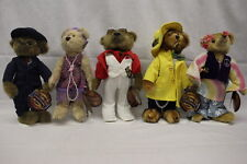 Lot Of 5, Brass Button Bears, 20Th Century Collectibles, Baxter, Daisy & More