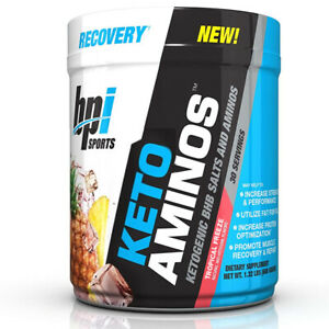 BPI Sports Keto Aminos Recovery Energy Burning Fat For Fuel (30 Srv) Tropical