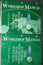 2008 FORD Explorer & Sport Trac Mountaineer Service Shop Repair Manual SET NEW
