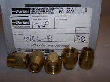 PARKER  61CL-8 COMPRESSION BRASS LONG NUT 1/2 TUBE 11/16 THREAD NEW LOT OF 5