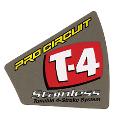 PRO CIRCUIT T4 T-4 END CAP EXHAUST REPLACEMENT STICKER DECAL UK MX CGH