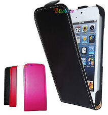 COVER PER APPLE IPHONE 5 CUSTODIA CASE PROTEZIONE SLIM VERTICALE ECO PELLE