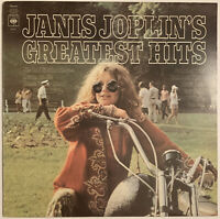 JANIS JOPLIN GREATEST HITS LP CBS UK ORANGE LABELS FIRST PRESS NEAR MINT