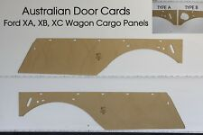 Ford XA, XB, XC Wagon Side Cargo Panels. Blank Trim Panels. Quality Masonite