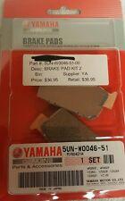 GENUINE YAMAHA 5UN-W0046-51 Brake Pad Kit 2 2004 WR250F, WR450FS, YZ125, YZ450FS