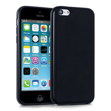 kwmobile Tpu Schutz Hülle Matt für Apple Iphone 5C Schwarz Case Silikon Cover