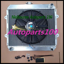 Aluminum Radiator & Fan for HILUX 22R 1.8L/2.0L/2.2L/2.4L Petrol RN85 RN90 YN85