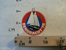 STICKER,DECAL EENDRACHT 1976 ZEILBOOT SCHIP BOOT
