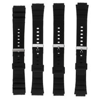 Black Silicone for Casio Mens G Shock Resin Replacement Watch Band 16-22mm