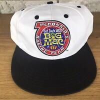 Vtg 90s Get Back With Big Mac Mcdonalds Racing Team Snapback Hat Cap Rare Unique