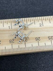 Sterling Silver Earring Settings- Estate Find- .6 Grams