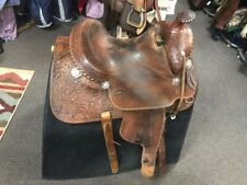 Bobs Western World Vintage Saddle, Beautiful Saddle, Sterling Conchos
