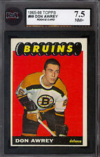1965 66 TOPPS HOCKEY #99 DON AWREY RC KSA 7.5 N-MINT + BOSTON BRUINS Rookie card