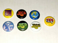 YES Band 1 Inch Buttons x7 NEW J. Anderson C. Squire S. Howe Lot B