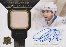 10-11 The Cup SIGNATURE PATCHES xx/75 Made! Simon GAGNE - Lightning