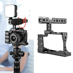 Camera Cage Handheld   Rig Housing Kit For Canon EOS M50 DSLR