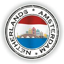 Seal Sticker of Netherlands Amsterdam Stamp Bumper Roundel Truck Laptop Car #02