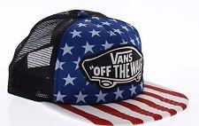 Vans Beach Girl Trucker Snapback USA Flag July 4 Retro Skate Hat VN0A2RPOY7T