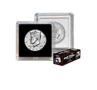 25 BCW Premium 2x2 Snap Coin Holders Nickel Size 21.2mm Black Frame