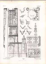 Gothic ALBY St Cecily sezione occidentale Torre parapetto Pinnacle