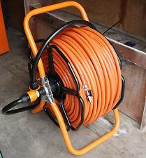 Metal Hose Reel + 100mtr's 8mm Orange Hose + 3 Hoseock Connectors & Joining Hose