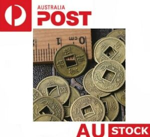 100 x Chinese Lucky Coins Feng Shui Good Luck Fortune Wealth prosperity 1.3cm