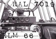 RLM66 LACK RAL7019 FARBE SCHWARZGRAU WEHRMACHT LUFTWAFFE ME110 JU88 FJ HELME 1kg