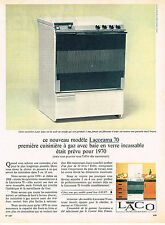 PUBLICITE ADVERTISING 094  1966  LACO   cuisinière gaz LACORAMA 70