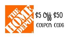 ➥➥➥SENT FAST! 6 -Home Depot $5 off $50 or more For In Store Purchase only !