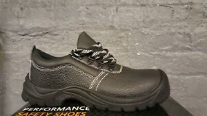 Mens Womens Safety Work Boots Shoes Leather Steel Toe Cap & Mid Shoes Size 4-13