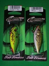 """Cordell Rattle Spot Rattle Trap - Wounded Tiger Shad & Bass - 2.5"""" (2 Pk)"""