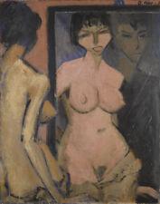 Otto Mueller Nude In The Mirror Canvas Print 16 x 20        #4081