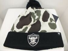 Oakland Raider NFL Cuffed Knit Camo Pom Top Winter Beanie Hat Cap New 47 Brand