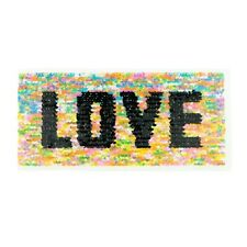 Wendepailletten Patches Aufnäher Pailletten Applikation Love