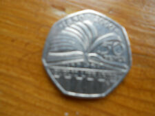 50p coin Public Libraries 150th Anniversary 2000 circulated