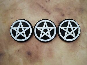 25mm Pentagram Cameos (3) - L598 Jewelry Finding