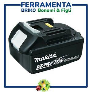 BATTERIA AL LITIO 18V 3AH MAKITA BL1830 ORIGINALE PER TRAPANO SMERIGLIATRICE ECO